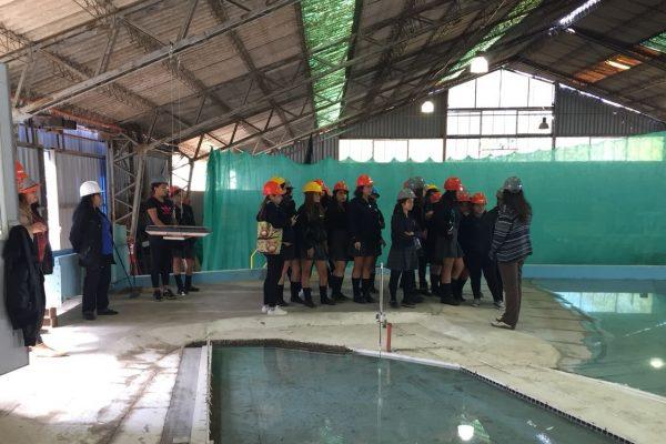 Alumnas del Liceo de Peñaflor visitan el Instituto en el Mes de la Mujer