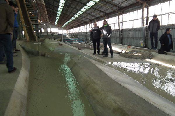 El mundo de la Consultoría Hidráulica visita INH para conocer Modelo Físico Aluvional