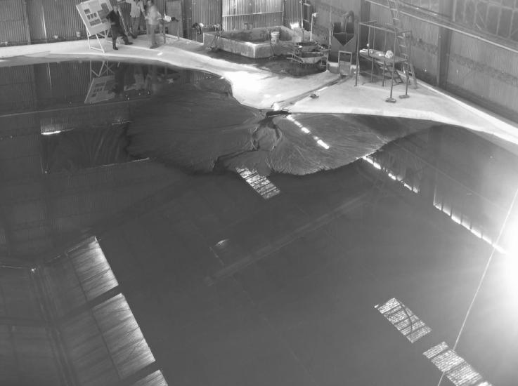 Modelo físico de la descarga del río San José de Arica.